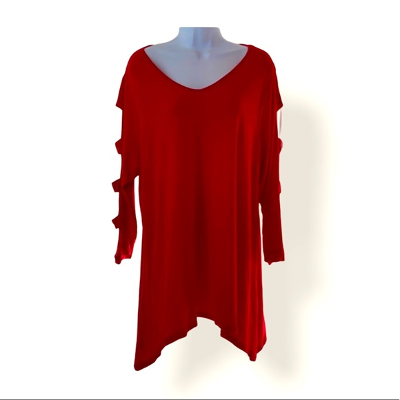 ❤️ 4 for $25 Red Tunic Shirt. Como Vintage 1X